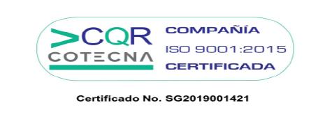 Agroinsumos El Condado, Cotecna - certificado - iso-9001-2015